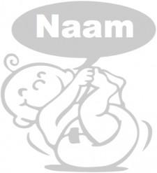 Geboorte raamsticker met Baby