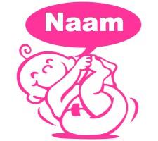 zuurstokroze raamsticker met baby