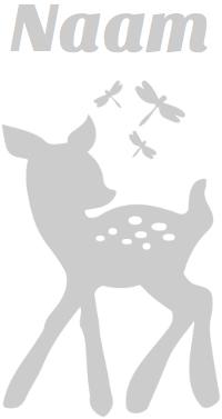 Geboorte raamsticker met Bambi