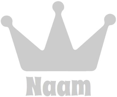 Geboorte raamsticker met Kroon