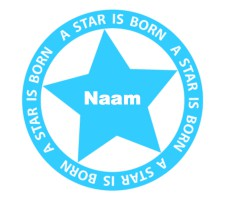 babyblauwe raamsticker met ster