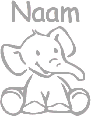 Geboortesticker met Olifantje